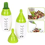 RiWEXA 2 Pcs Set Multi Cooking Chef's Oil Bottle Pastry Brush Squeeze Kit Tool