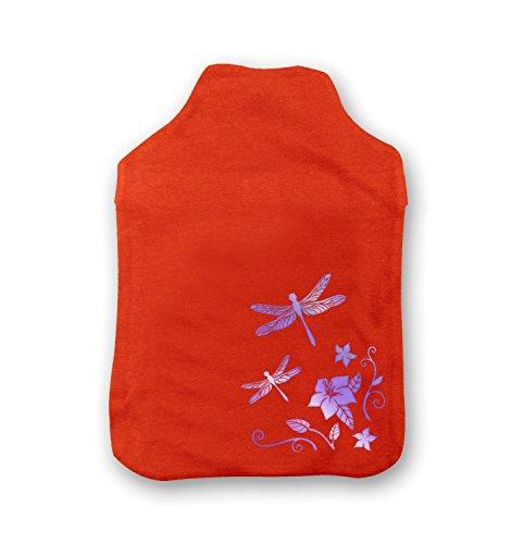 floral-dragonflies-hot-water-bottle-cover-orange-water-bottle