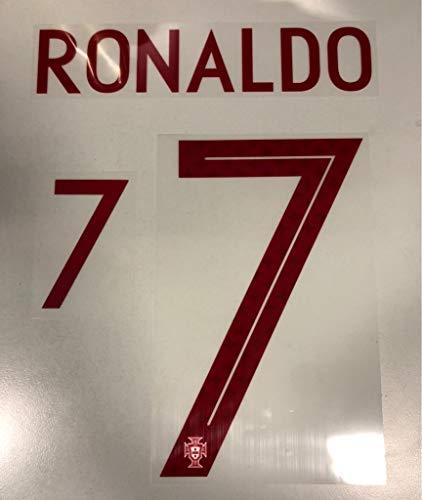 Flock Original Portugal Trikot 25cm - Ronaldo 7