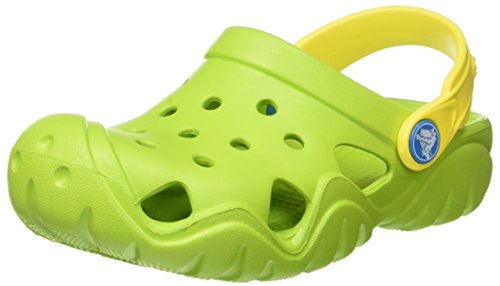 crocs Unisex-Kinder Swiftwaterclgk Clogs, Grün (Volt Green/Lemon), 28-29 EU