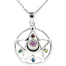 CoolChange colgante de plata Sterling 925 de Sailor Moon con símbolo de trasformación