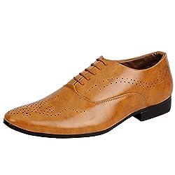 Fausto 3228-40 Tan Mens Formal Oxford