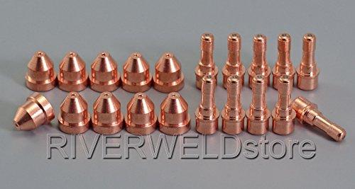C1516 Plasma Elektrode HF & C1290 Schneiddüse für CEBORA CP-40 Plasmabrenner, 20pcs