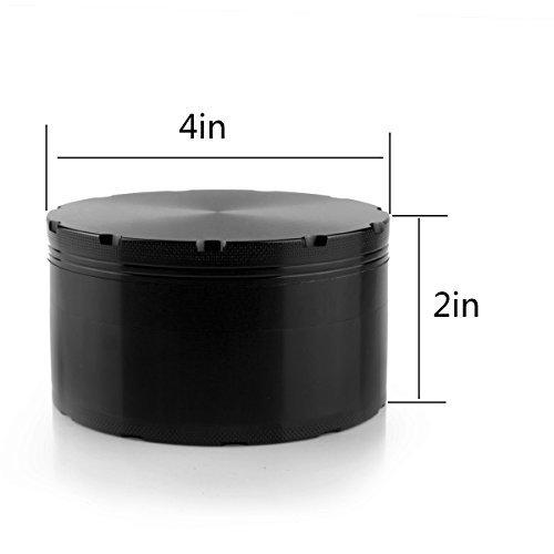 Formax420XXL Grinder 100mm 4pulgadas más grande molinillo de hierbas molinillo para especias, color negro