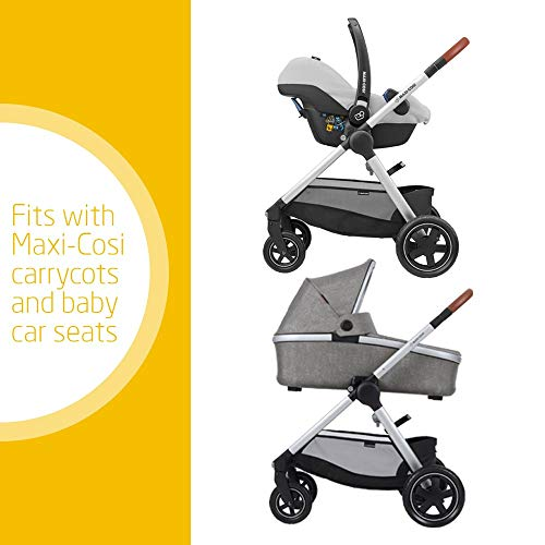 Maxi-Cosi Adorra Baby Pushchair, Comfortable and Lightweight Stroller with Huge Shopping Basket, Suitable from Birth, 0 Months - 3.5 Years, 0-15 kg, Nomad Grey