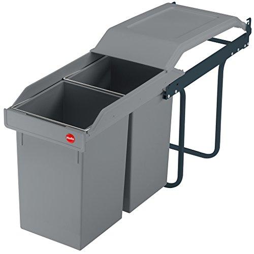 Hailo 3659-501, Multi-Box Duo L, Einbau-Abfalltrenner, 2x14 Liter, Graphitgrau