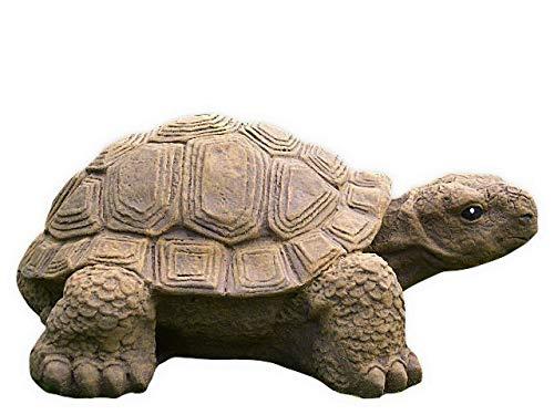 Gartenfigur Schildkröte groß - Hellbraun, Deko, Figur, Garten, Stein, frostsicher ()