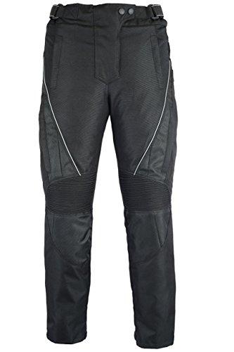 Jazz–Mujer Thermo–Pantalones de motorista,–CE protectores impermeable–Negro Tamaño 40