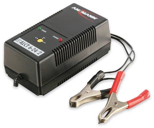ANSMANN ALCT 6-24/2 KFZ-Ladegerät für Autobatterie/Roller/Motorrad Batterie Blei-Bleigel-Akkus 12V 24V 6V, Futterboot, Fischfinder, Sonar, Echolot (Batterie Betrieben Roller)