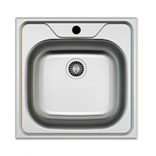 Edelstahl Einbauspüle I Küchenspüle / Spülbecken MIZZO Sino 480 I Eckige Edelstahlspüle/ spüle 48 cm