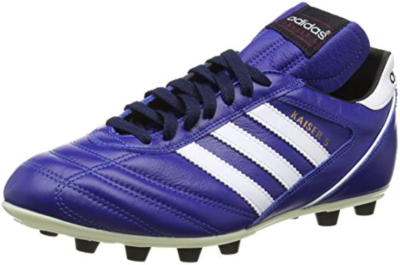 Adidas Kaiser 5 Liga - Botas Unisex, Color Azul/Negro / Blanco