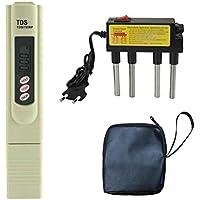Elenxs Pluma de electrólisis Digital TDS Filtro de medidor de Calidad del Agua Purity Level Tester Enchufe de la UE