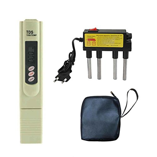 Uzinb TDS Wasserelektrolyseur Test-Elektrolysen Pen digitaler TDS Meter-Filter-Wasserqualität-Reinheit Level Tester EU-Stecker