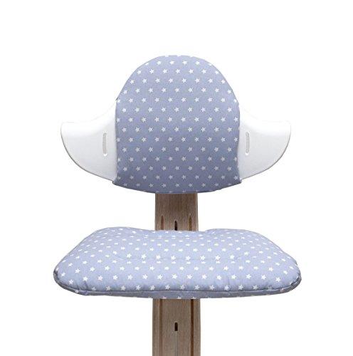 Blausberg Baby - Sitzkissen Set für Nomi Hochstuhl - grau Stern