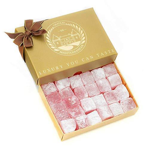 Turkish Delight, Rose Aroma, Geschenk-Box, 500g, Lokum, Rahat, Chateau De Mediterranean (Rosen-aroma)