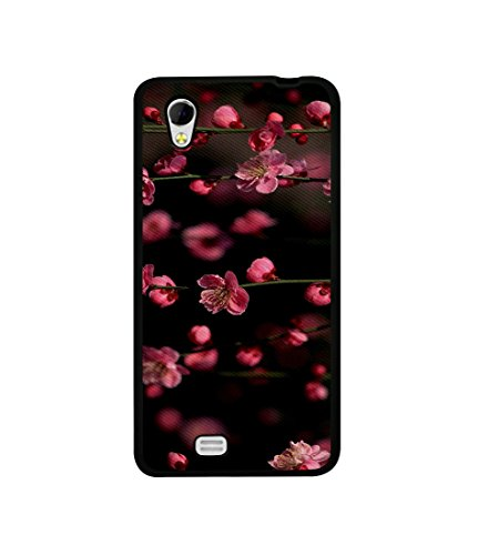 Casotec Pink Flowers Design Canvas Printed Soft TPU Back Case Cover for Gionee Ctrl V4s  available at amazon for Rs.399