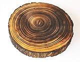 TRF Holzscheibe GEFLÄMMT 18cm rund GEFLAMMT 3cm dick Baumscheibe Holz Scheibe Baum Scheibe Basteln Holzscheiben Dekoteller Dekoschale Unterleger Untersetzer geflammt Dekoobjekt …