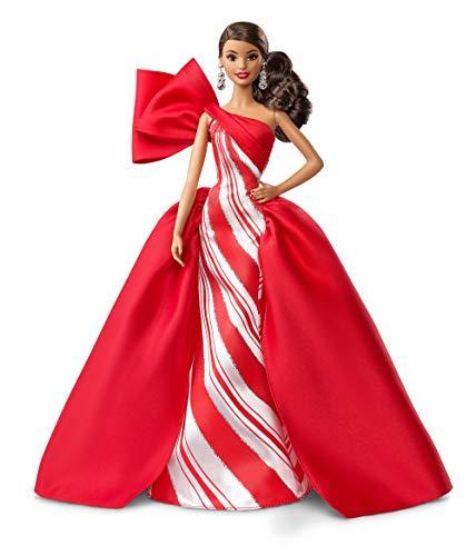Barbie- magia delle feste 2019 bambola brunette con coda da collezione, giocattolo per bambini 6+ anni, multicolore, fxf03