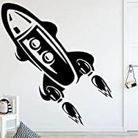 Rocket Height Vinyl Wall Sticker for Kids Livingroom Growth Chart Height Measure for Children Removable PVC Wall Decals Poster 43X48Cm