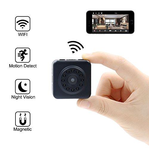 Mini Kamera UYIKOO Wifi Kamera HD 1080P Wireless IP Kamera WLAN P2P Kamera Home Security Kindermädchen Cam mit Bewegungserkennung & Nachtsicht für IOS/Android (P2p-drahtlose Ip-kamera)