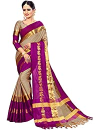 VAIVIDHYAM Sarees Women's Cotton Silk Saree with Blouse.