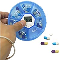 Pillen Kiste, Intelligentes Timing + Digitaler Sprach Alarm, Mit Zeit Mahnung, Mini Portable Carry-On (7 Fächer) preisvergleich bei billige-tabletten.eu
