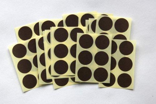 Etiquetas adhesivas circulares para codificar,100 unidades, color marrón
