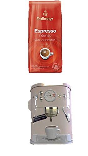Dallmayr Espresso Intenso Bohnen, 1er Pack (1 x 1 kg) + Kaffeedose neu 3 D Design weiß