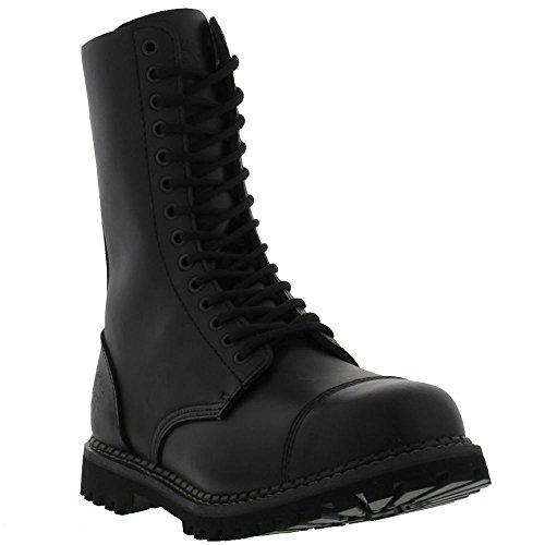 Grinder Herald 14 Eyelet Black Mens Boots Noir