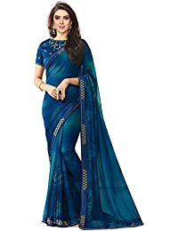 Fashion And Hub Wedding Party Wear Georgette Saree With Blouse Piece