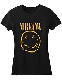 Nirvana - Smile Tissue T-shirt Women's T-Shirt in Black