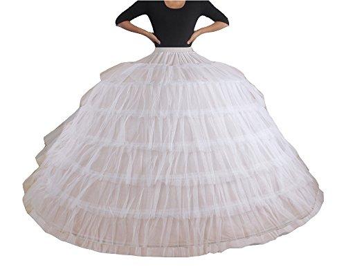 ck Unterrock petticoat kleid 50er Hochzeit Petticoat krinoline hoopless Brautpetticoat 7 HOOP underskirt Slip Krinoline ()