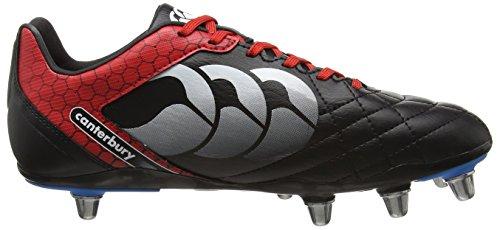 Canterbury Stampede Club 8 Stud Herren Rugbyschuh Black (Black/True Red)