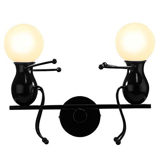 KAWELL Humanoide Creativo Lámpara de Pared Moderno Luz de Pared Simple Apliques de Pared Art Deco Max...