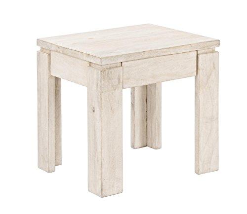 BIZZOTTO Kastle Table 1 C, Bois, Beige, 45 x 40 x 45 cm