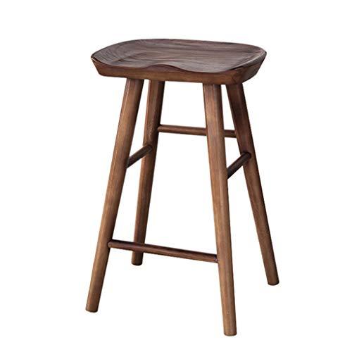Barhocker Eco-Friendly Kiefer Stuhl Hocker ergonomische Runde Esszimmer Stuhl Küche, Bar, Café Zähler Hocker (Farbe : Nussbaum, größe : 55cm) - Esszimmer Nussbaum Barhocker