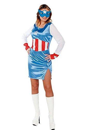 Disfraz Capitan América mujer - Único, M