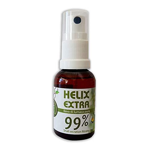 Helix Extra Gocce 99% Bava di Lumaca Pura 100 % Made in Italy coadiuvante per Acne Rughe Cicatrici Macchie Cutanee Smagliature 30ml