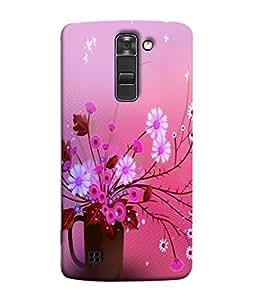 PrintVisa Designer Back Case Cover for LG K7 :: LG K7 Dual SIM :: LG K7 X210 X210DS MS330 :: LG Tribute 5 LS675 (Pink Flowers In Pink Background)