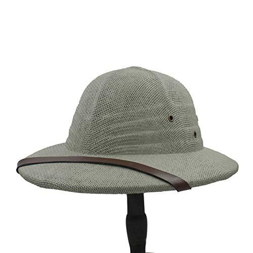 zlhcich Sombreros de Vaquero para Hombres Sombreros de Vaquero para Hombres Tan 59CMty Algodón Hombres Sombrero de Homburg para Caballero Iglesia de Viaje Panamá Gangster Sun Hatup Light