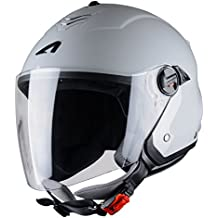 Astone Helmets MINIMS, LGL Mini Jet-Casco Jet, S, color Gris claro