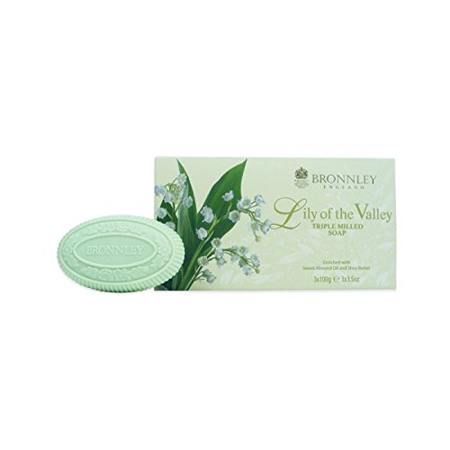 Bronnley Lily of the Valley - Triple Milled Soap Collection 3x 100g -