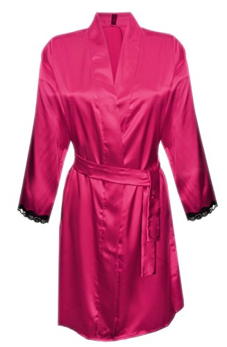 DKaren NANCY Damen Nachtwäsche / Nachtmend aus Satin (S-XXL) Pink