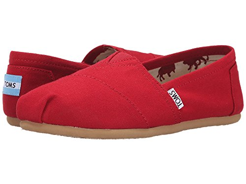 TOMS Women's Classic Canvas Slip-on,Red,7 M (Slip Canvas Schuhe Toms)
