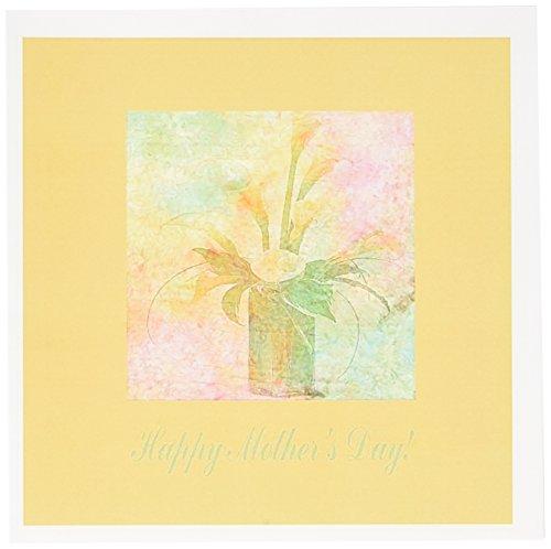 3drose Cala Lilien in einer Vase, Happy Mothers Day–Grußkarten, 15,2x 15,2cm, Set 6(GC...