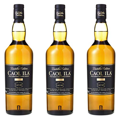 Caol ila 734790 - bottiglia da 12 anni/anni, 3 pezzi, singola, per whisky, scotch, alcol, bevande alcoliche, 43%, 700 ml