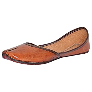 AMPEREUS Leather Rajasthani Jutti/mojari for women's