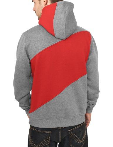 Urban Classics Herren Pullover Bekleidung Zig Zag Hoody gry/red/bl