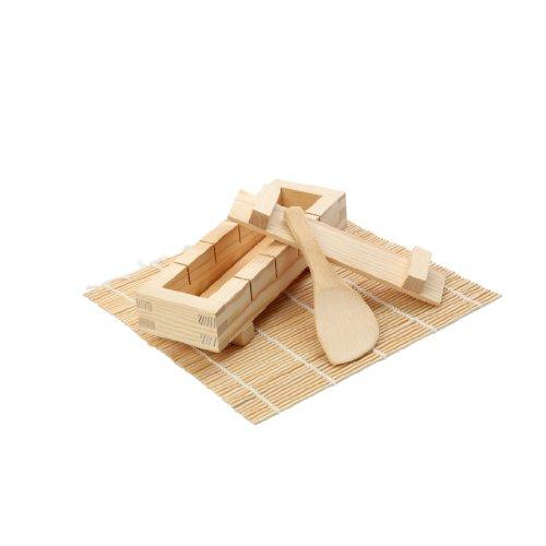 Dexam 17841090 Sushi-Set aus Bambus (Edelstahl-wok-kit)