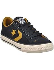 Converse - Zapatillas de Piel para niño Negro negro 38